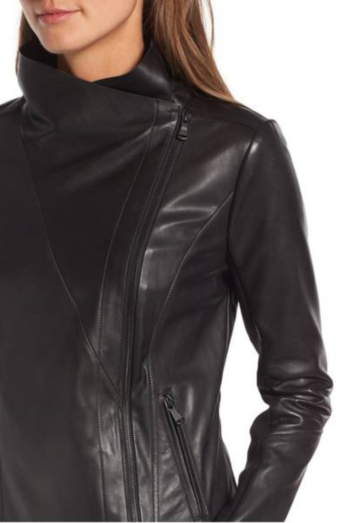 Biker / Motorcycle Jacket - Women Real Lambskin Leather Biker Jacket KW317 - Koza Leathers