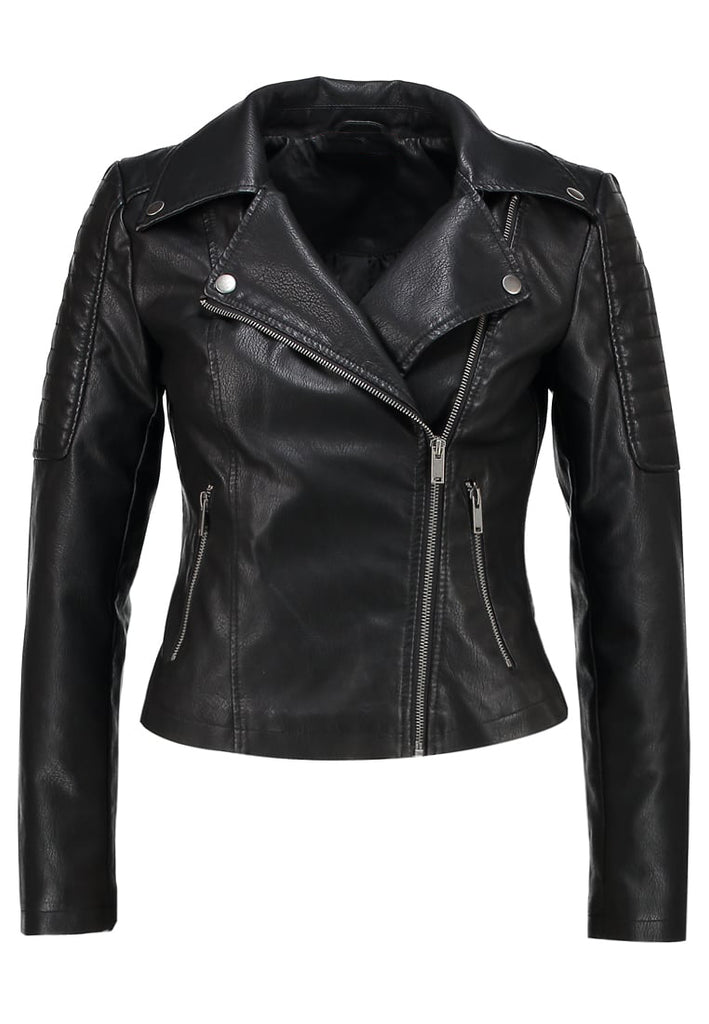 Biker / Motorcycle Jacket - Women Real Lambskin Leather Biker Jacket KW225 - Koza Leathers