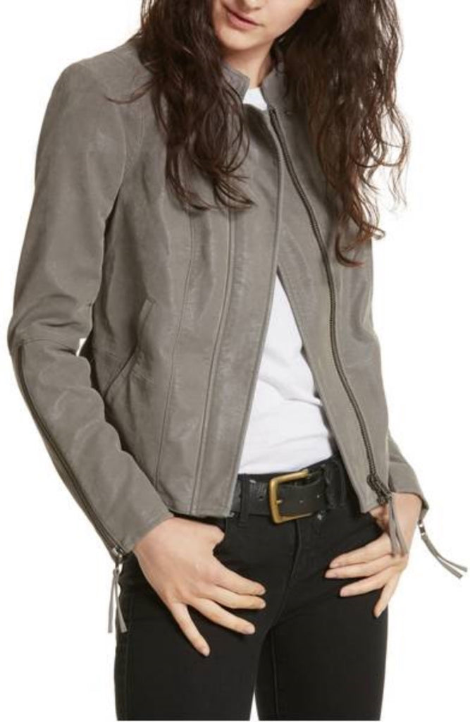 Biker / Motorcycle Jacket - Women Real Lambskin Leather Biker Jacket KW318 - Koza Leathers