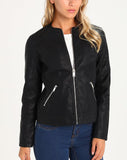 Biker / Motorcycle Jacket - Women Real Lambskin Leather Biker Jacket KW232 - Koza Leathers