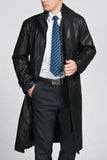 Koza Leathers Men's Genuine Lambskin Trench Coat Real Leather Jacket TM003