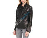 Biker / Motorcycle Jacket - Women Real Lambskin Leather Biker Jacket KW098 - Koza Leathers