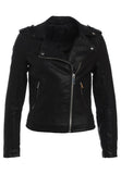 Biker / Motorcycle Jacket - Women Real Lambskin Leather Biker Jacket KW189 - Koza Leathers