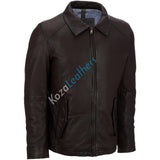 Biker Jacket - Men Real Lambskin Motorcycle Leather Biker Jacket KM178 - Koza Leathers