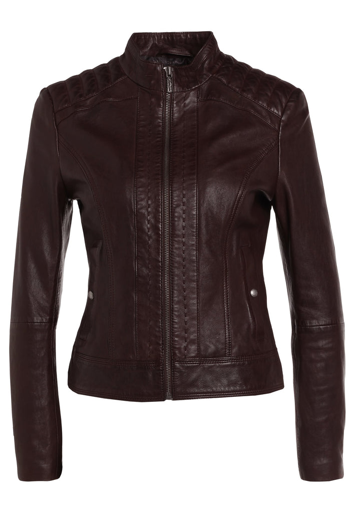 Biker / Motorcycle Jacket - Women Real Lambskin Leather Biker Jacket KW233 - Koza Leathers