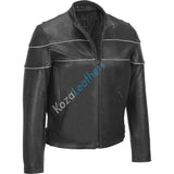 Koza Leathers Men's Genuine Lambskin Bomber Leather Jacket NJ030