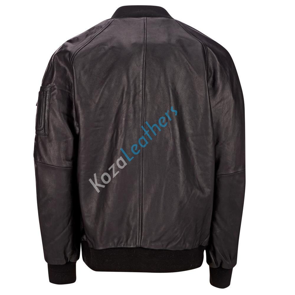 Biker Jacket - Men Real Lambskin Motorcycle Leather Biker Jacket KM180 - Koza Leathers