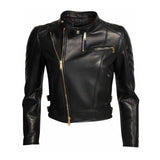 Biker / Motorcycle Jacket - Women Real Lambskin Leather Biker Jacket KW052 - Koza Leathers