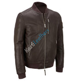Biker Jacket - Men Real Lambskin Motorcycle Leather Biker Jacket KM182 - Koza Leathers