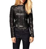 Biker / Motorcycle Jacket - Women Real Lambskin Leather Biker Jacket KW055 - Koza Leathers