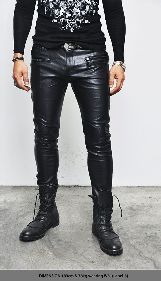 Koza Leathers Men's Real Lambskin Leather Pant MP017