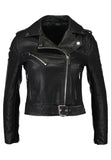 Biker / Motorcycle Jacket - Women Real Lambskin Leather Biker Jacket KW190 - Koza Leathers