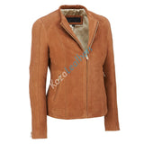 Biker / Motorcycle Jacket - Women Real Lambskin Leather Biker Jacket KW144 - Koza Leathers
