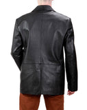 Leather Blazer - Men Real Sheepskin Leather Blazer KB013 - Koza Leathers