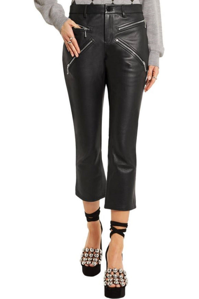 Koza Leathers Women's Real Lambskin Leather Capri Pant WP030