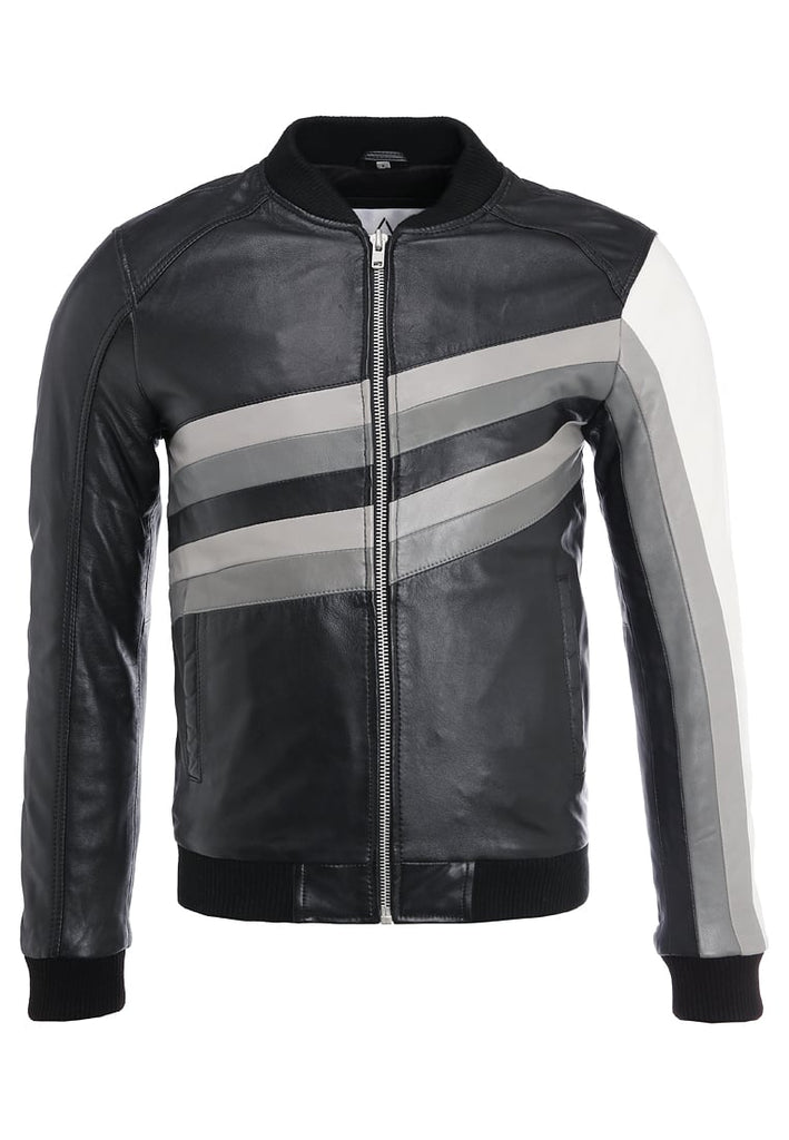 Biker Jacket - Men Real Lambskin Motorcycle Leather Biker Jacket KM294 - Koza Leathers