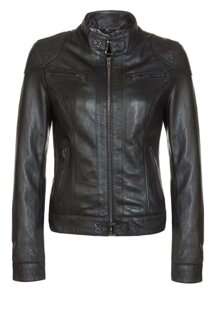 Biker / Motorcycle Jacket - Women Real Lambskin Leather Biker Jacket KW251 - Koza Leathers