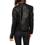 Biker / Motorcycle Jacket - Women Real Lambskin Leather Biker Jacket KW448 - Koza Leathers