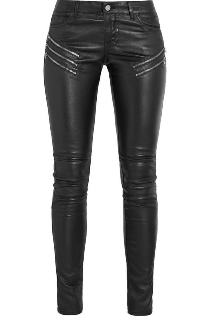 Koza Leathers Women's Real Lambskin Leather Skinny Pant WP087