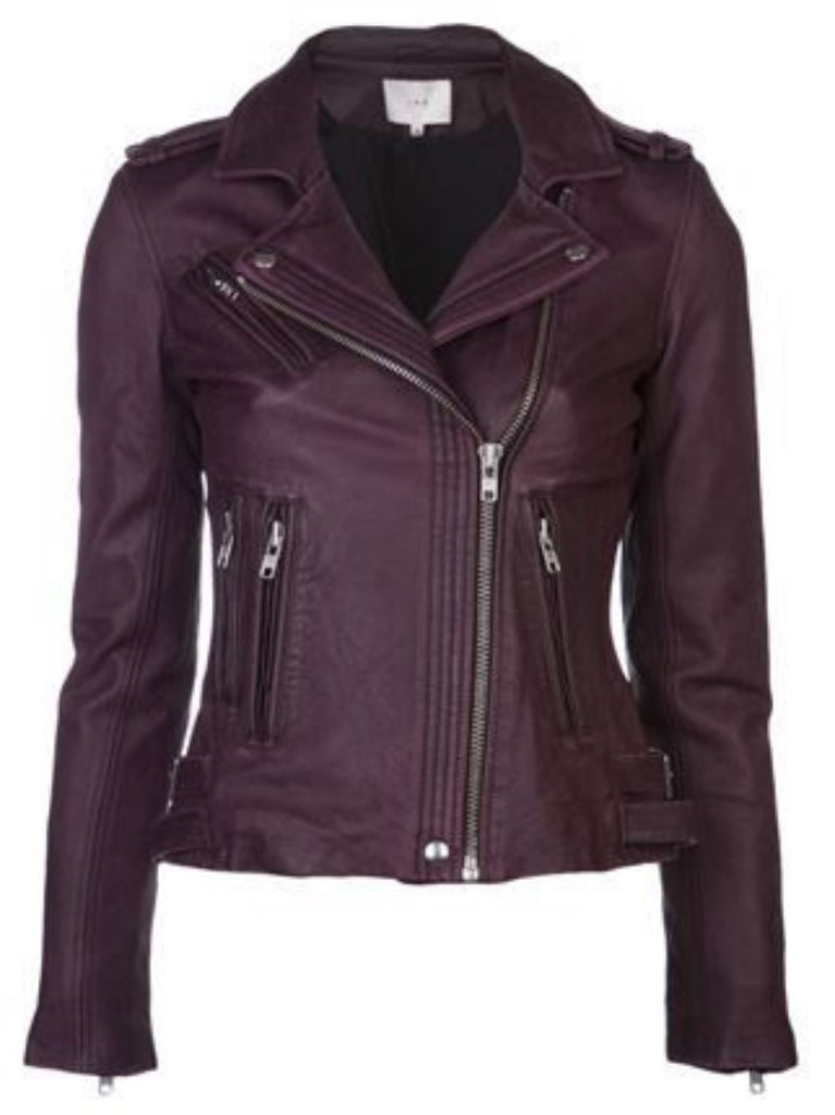 Biker / Motorcycle Jacket - Women Real Lambskin Leather Biker Jacket KW344 - Koza Leathers