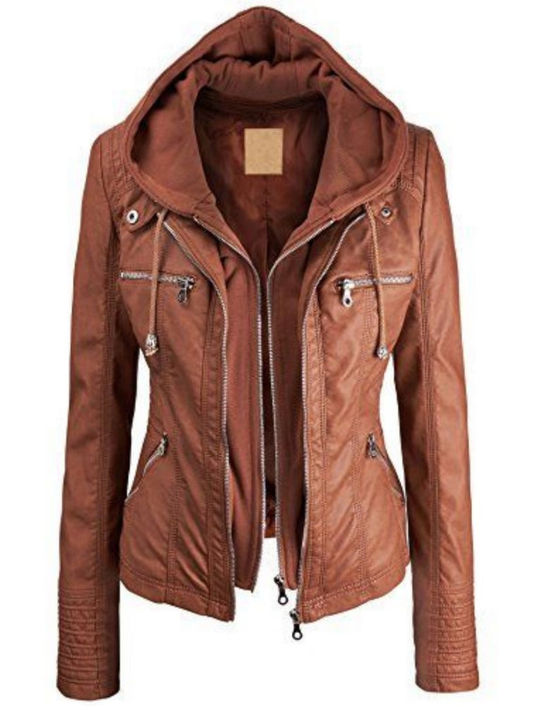 Biker / Motorcycle Jacket - Women Real Lambskin Leather Biker Jacket KW499 - Koza Leathers