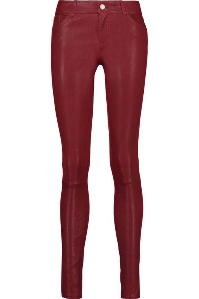 Koza Leathers Women's Real Lambskin Leather Skinny Pant WP088