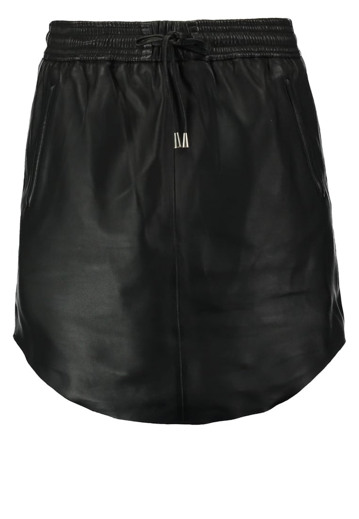 Knee Length Skirt - Women Real Lambskin Leather Slim Fit Skirt WS101 - Koza Leathers