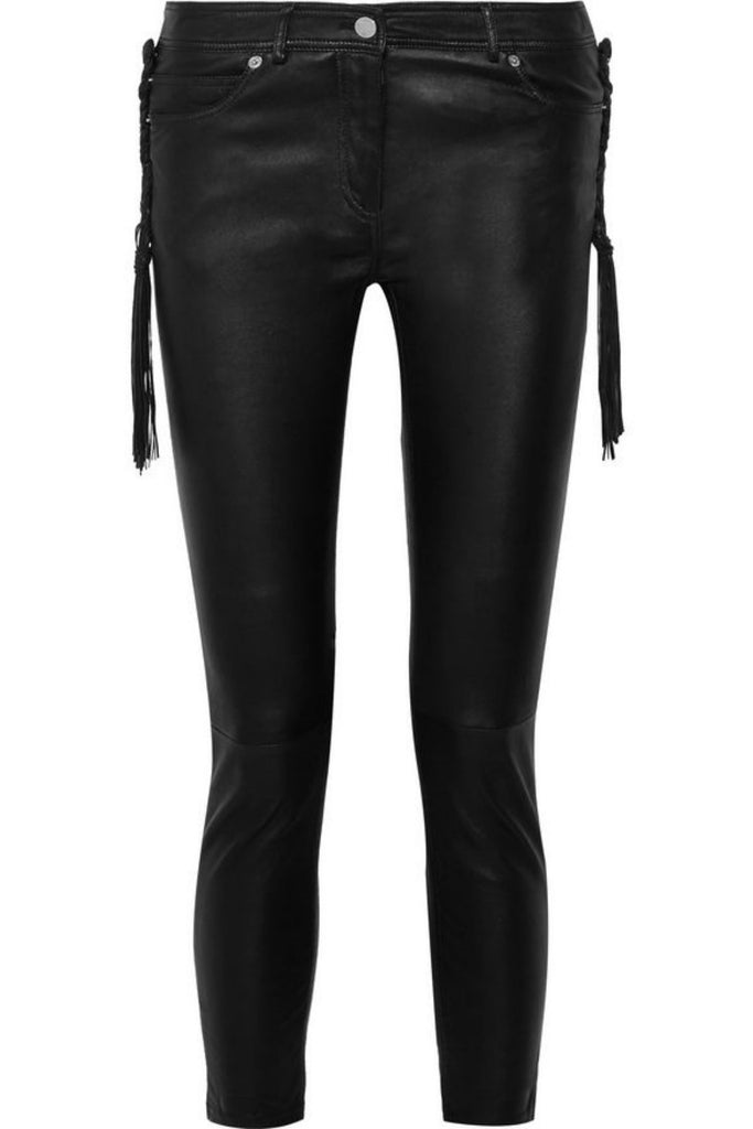 Koza Leathers Women's Real Lambskin Leather Capri Pant WP037