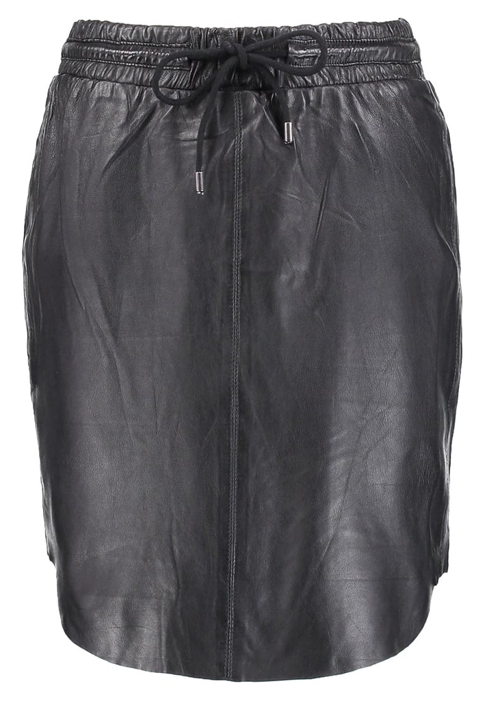 Knee Length Skirt - Women Real Lambskin Leather Slim Fit Skirt WS104 - Koza Leathers
