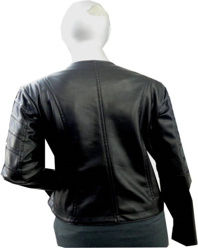 Biker / Motorcycle Jacket - Women Real Lambskin Leather Biker Jacket KW437 - Koza Leathers