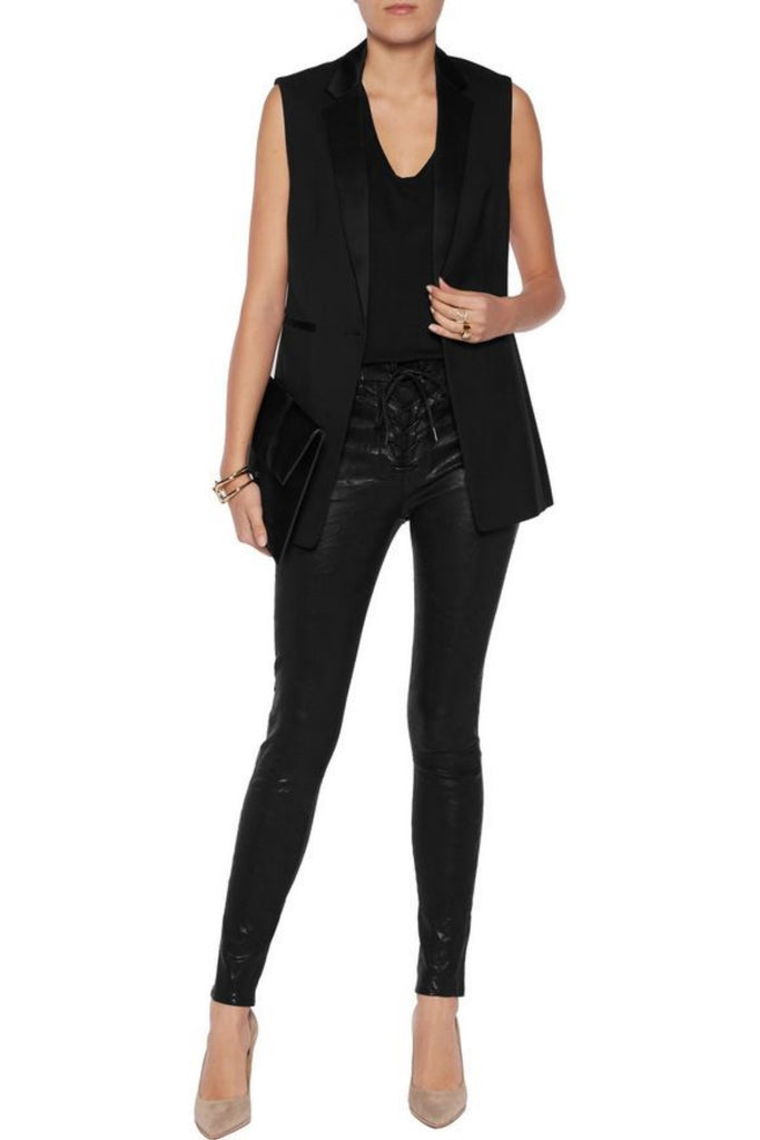 Koza Leathers Women's Real Lambskin Leather Skinny Pant WP092
