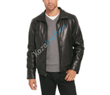 Koza Leathers Men's Genuine Lambskin Bomber Leather Jacket NJ009