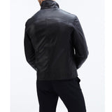 Biker Jacket - Men Real Lambskin Motorcycle Leather Biker Jacket KM314 - Koza Leathers