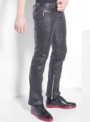 Koza Leathers Men's Real Lambskin Leather Pant MP006
