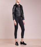 Biker / Motorcycle Jacket - Women Real Lambskin Leather Biker Jacket KW193 - Koza Leathers