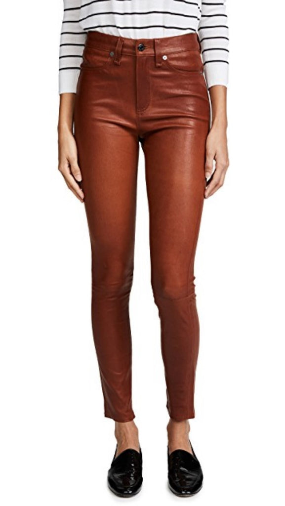 Koza Leathers Women's Real Lambskin Leather Capri Pant WP041
