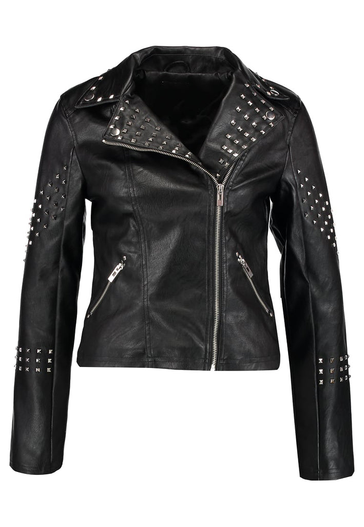 Biker / Motorcycle Jacket - Women Real Lambskin Leather Biker Jacket KW274 - Koza Leathers