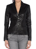 Koza Leathers Women's Real Lambskin Leather Blazer BW010