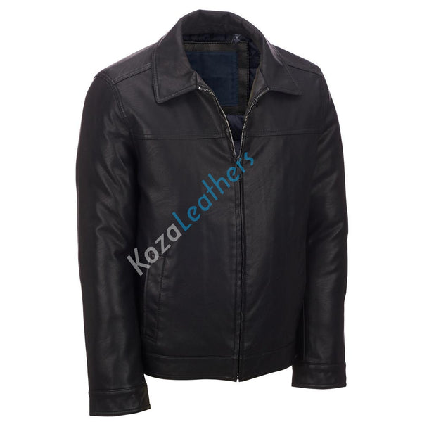 Biker Jacket - Men Real Lambskin Motorcycle Leather Biker Jacket KM205 - Koza Leathers