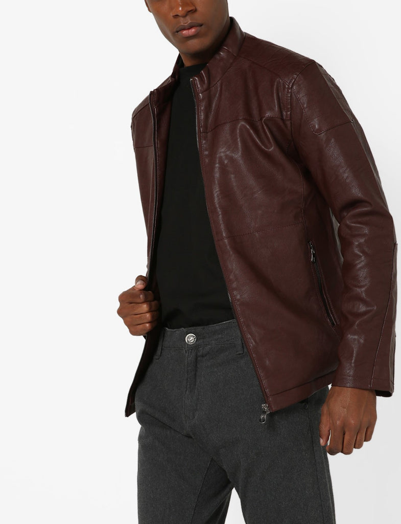 Biker Jacket - Men Real Lambskin Motorcycle Leather Biker Jacket KM695 - Koza Leathers