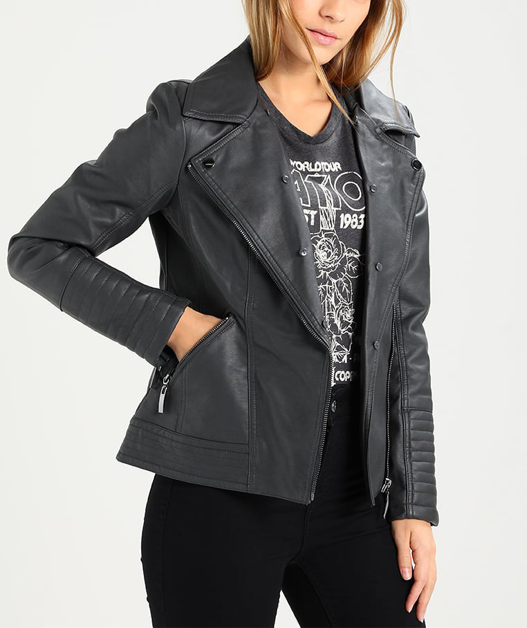 Biker / Motorcycle Jacket - Women Real Lambskin Leather Biker Jacket KW194 - Koza Leathers