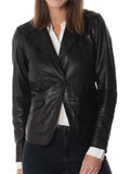 Koza Leathers Women's Real Lambskin Leather Blazer BW107