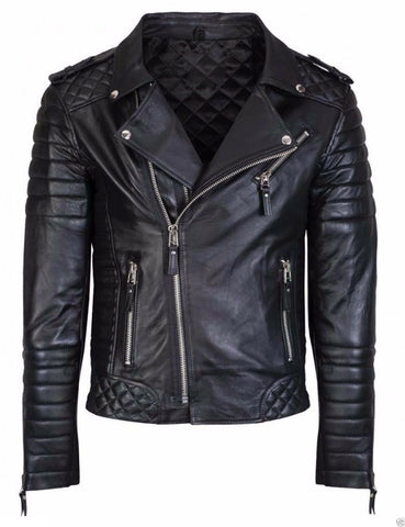 Biker Jacket - Koza Leathers Men's Genuine Lambskin Leather Jacket KP005 - Koza Leathers