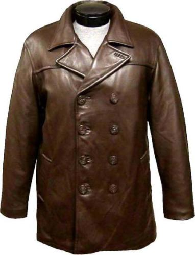 Koza Leathers Men's Genuine Lambskin Trench Coat Real Leather Jacket TM025