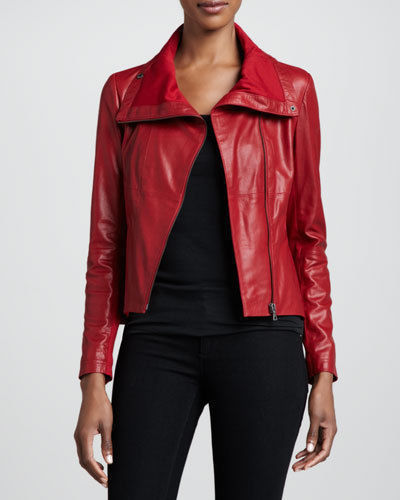 Biker / Motorcycle Jacket - Women Real Lambskin Leather Biker Jacket KW095 - Koza Leathers