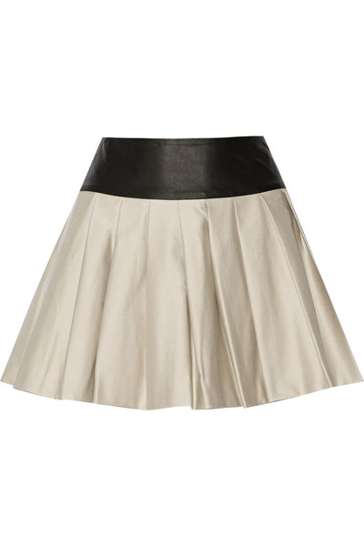 Women Real Lambskin Leather Mini Skirt WS029