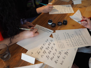 Meticulous Ink Calligraphy Workshop at Resident