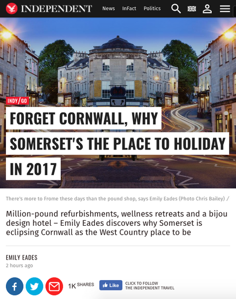 Forget Cornwall, why Somerset's the place to holiday