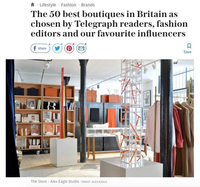 The 50 Best Boutiques in Britain, Stella Magazine