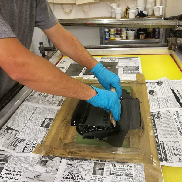 Screen printing with Printmill Studios at Resident Bath